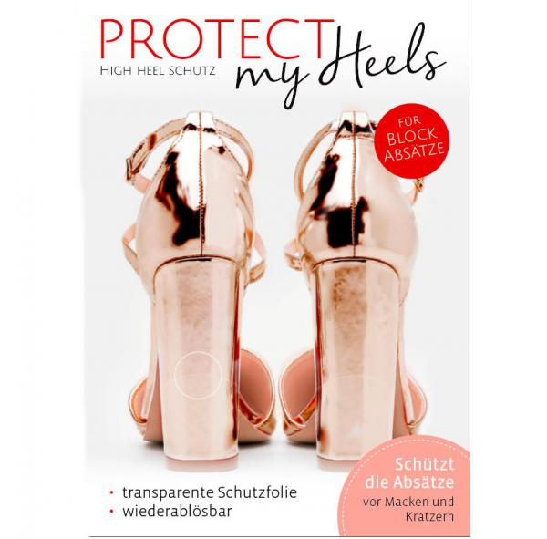 ProtectMyHeels Blockabsatz Absatzschoner Transparent Edition 1-Pack